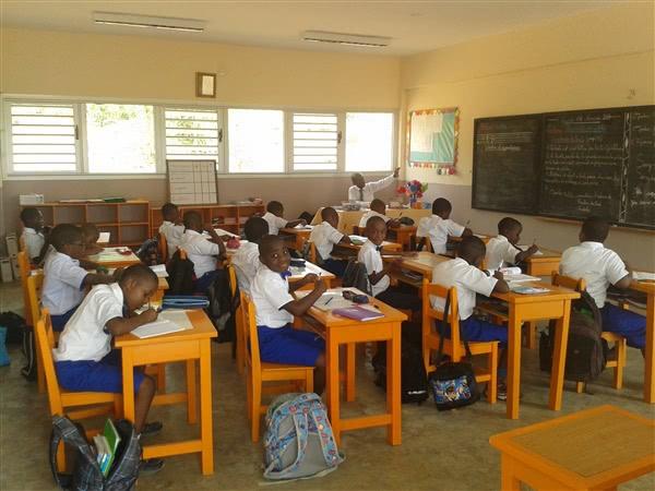 Et klasserom i Makoré