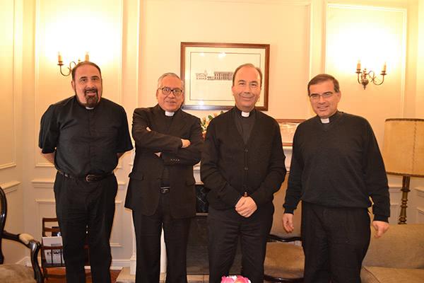 Pbro. Julio Díaz, Pbro. Guillermo Colipe, Pbro. Luis Cerón y Pbro. Miguel Luis González.