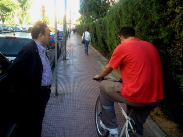 Dante le proporcionó la bici que necesitaba para ir al trabajo.