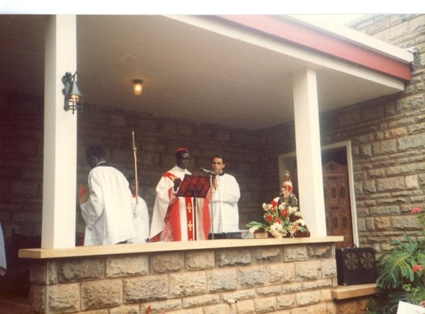 Thanksgiving Mass on the occasion of the 25th anniversary of the school, presided over by the archbishop of Nairobi then. Maurice Michael Cardinal Otunga