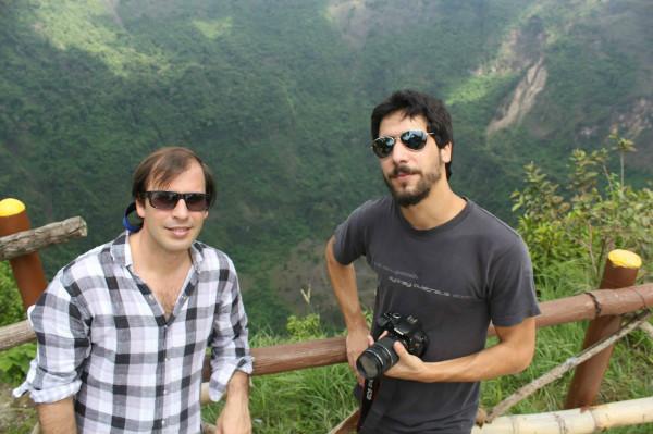Filmando en El Salvador.