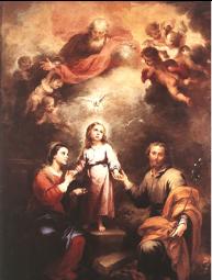 """Bartolomé Murillo (1680, National Gallery, Londres) """"Les deux Trinités"""""""