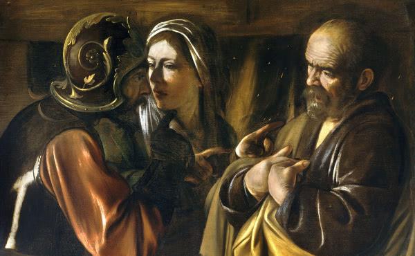 La negación de San Pedro (Caravaggio, 1610)