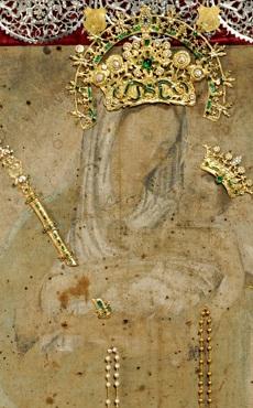 Imagen de Cuadro Original de la Virgen de Chiquinquirá que descansa en la Basílica