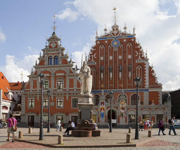 Plaza del Ayuntamiento, Riga, Letonia.