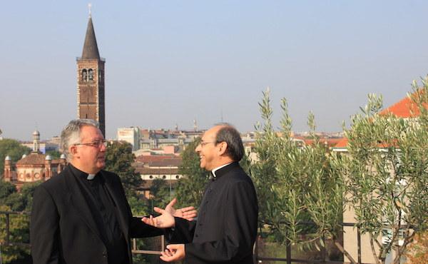 Don Matteo Fabbri (a destra) affiancherà don Normann Insam come vicario segretario.