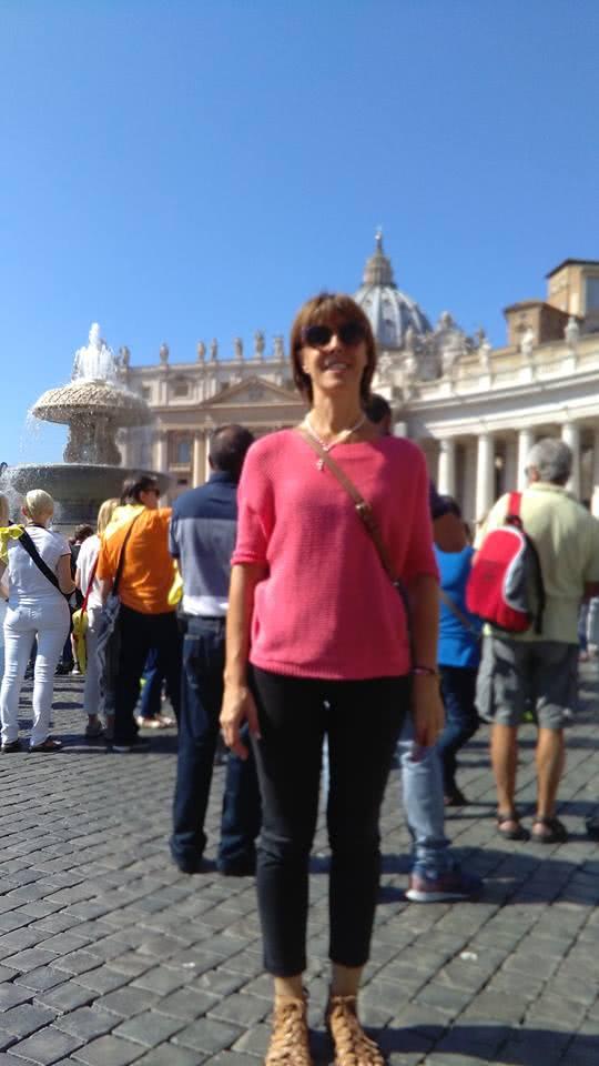 Nel periodo di Natale del 2014 Orietta sentì il desiderio di andare all'Angelus in piazza san Pietro.