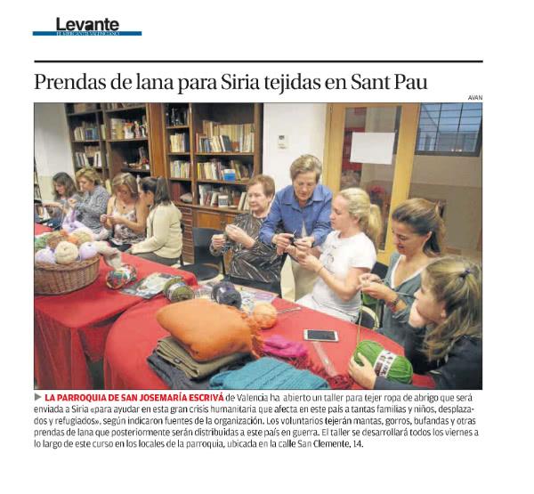La noticia también fue publicada en el diario Levante.