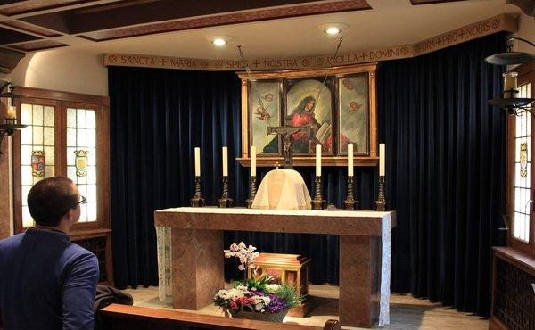Pirmo Opus Dei moterų centro – Jorge Manrique koplyčia. Katažinos Topolskos nuotrauka