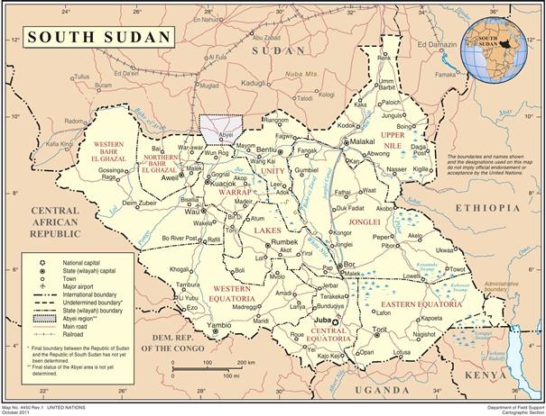 Stephen ha trabajado en Sudán del Sur.