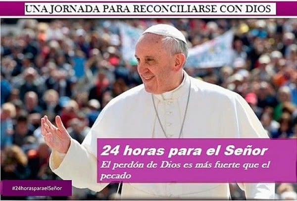 La iniciativa cuenta con el hashtag #24horasparaelSeñor
