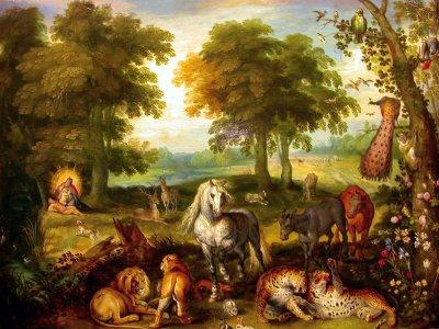 Le Paradis, par Brueghel Le Jeune (1615)