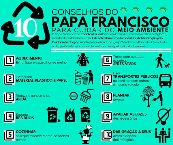 10 Conselhos Do Papa Francisco Para Cuidar Do Meio Ambiente Opus Dei