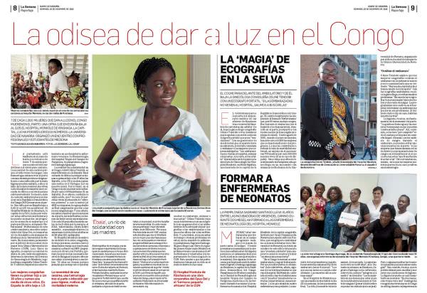 """Reportaje """"La odisea de dar a luz en el Congo"""" habla de una iniciativa para mejorar la maternidad en el Congo."""
