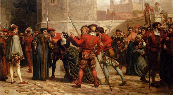 """William Frederick Yeames, """"O encontro de Sir Thomas More com sua filha depois de sua sentença de morte"""", 1872"""