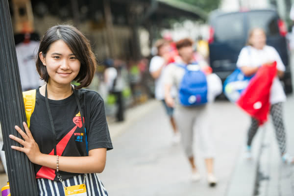 Hilda, de Hong Kong, espera encontrar en la JMJ la fuerza mental y espiritual para su trabajo con personas desfavorecidas. Fotografía: Ismael Martínez Sánchez.
