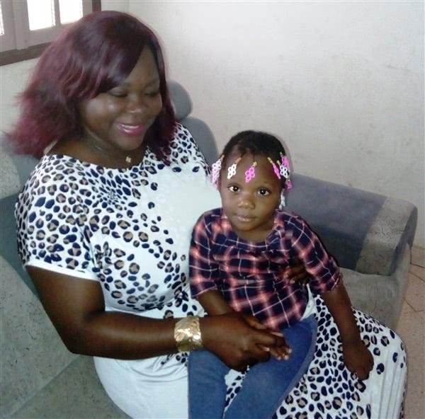 Avec sa fille Marie-Olivia