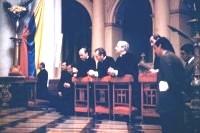 Don Alvaro durante su visita a la Basílica de Nuestra Señora de Chiquinquirá.