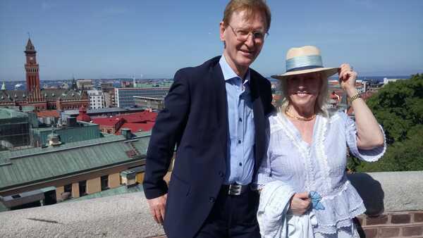Barbara y Arne en Roma