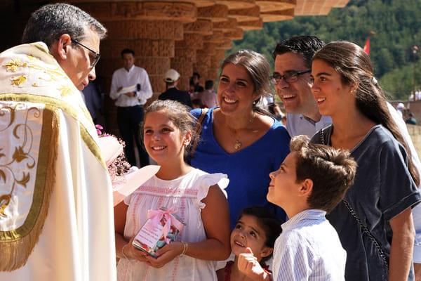 Ofrenda de familias en Torreciudad