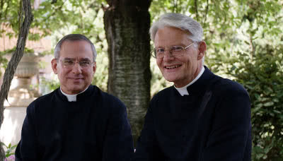 Gli autori del libro: Javier López (sinistra) e Ernst Burkhart (destra).