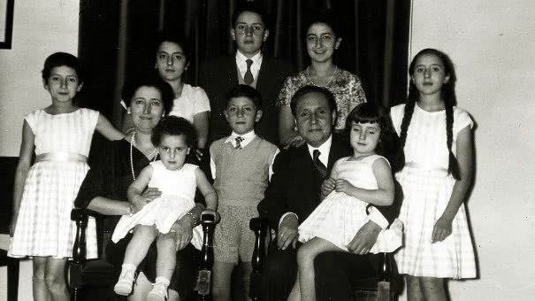 The Alvira family, in 1957.