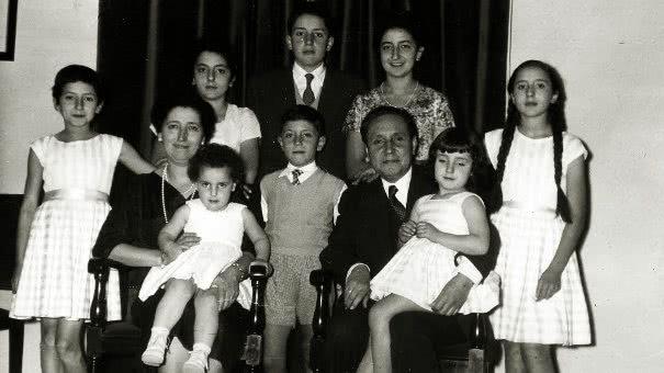 The Alvira family, in 1957.