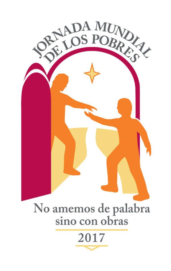 Logo y lema de la I Jornada Mundial de los pobres