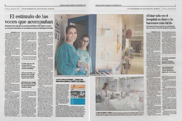 El diario El Mundo (Edición Valladolid) dedicó un reportaje a la iniciativa solidaria.