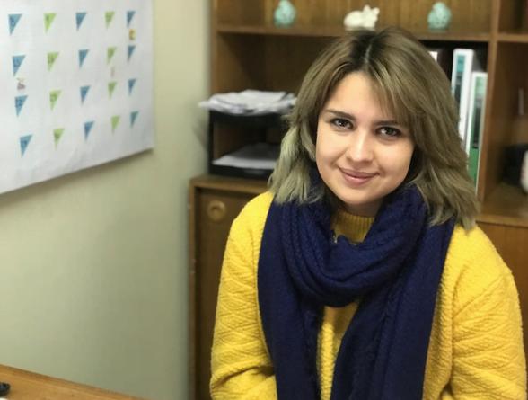 Camila Vega, psicóloga del Colegio San Juan Diego, perteneciente a la Congregación de Los Legionarios de Cristo.