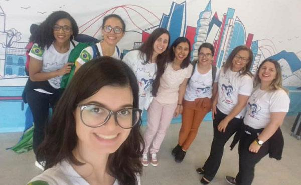 Raika e o grupo de Brasília na chegada ao Panamá
