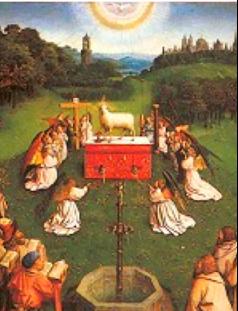 Frères van Eyck, L'Agneau Mystique (Gand, 1432)