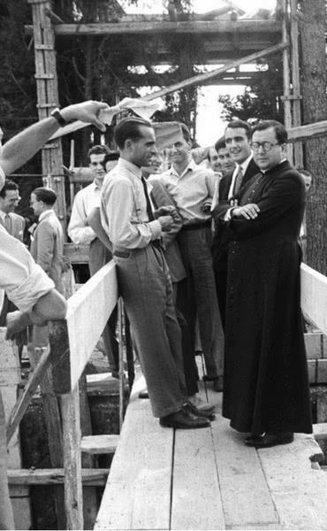 São Josemaria em Villa Tevere (Roma), 31 de maio de 1949