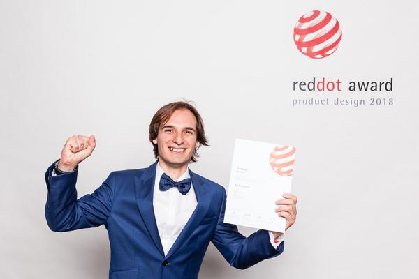 Fran consiguió el Reddot Award 2018, considerado como un verdadero Óscar del diseño