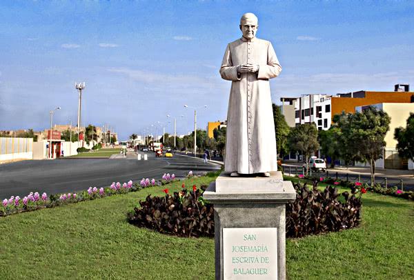 Imagen de san Josemaría en Chiclayo
