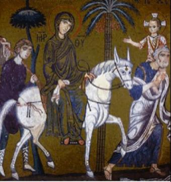 Anonyme, mosaïque byzantine (XIIe siècle), Chapelle Palatine, Palerme.