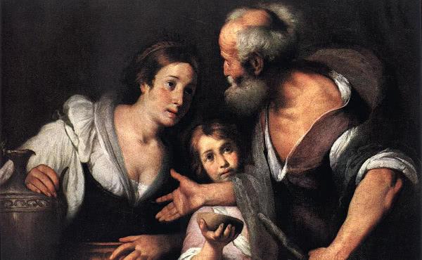 Elias com a viúva de Sarepta e seu filho.