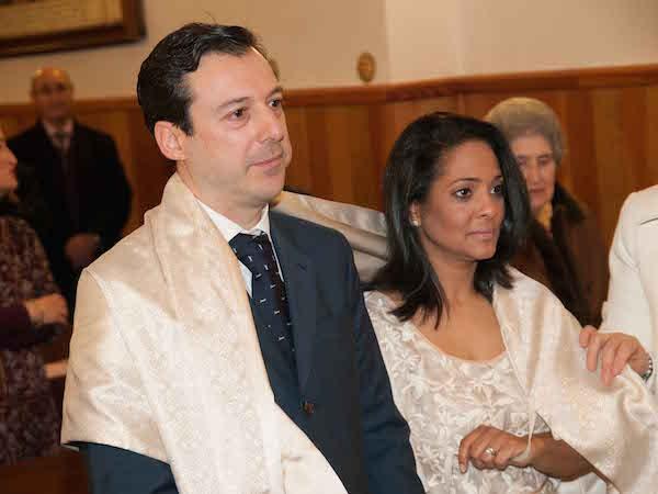 Sergio y Angie, el día de su boda.