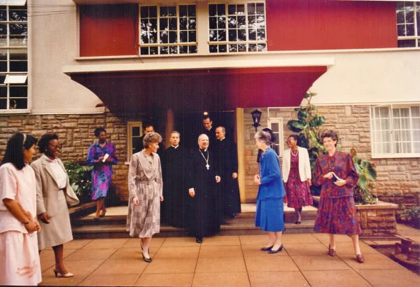 Blessed Alvaro del Portillo visited the school in 1989