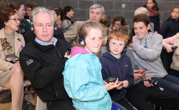 Alguns dels assistents a un dels actes de la visita del prelat de l'Opus Dei a Irlanda.