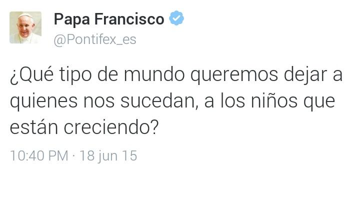 Opus Dei - El Papa Francisco presenta la #LaudatoSi en Twitter