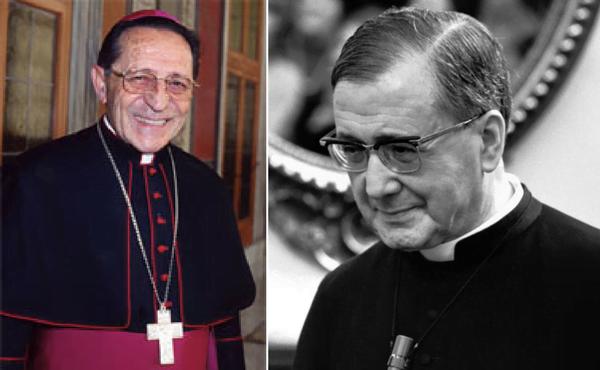 À direita São Josemaria Escrivá, fundador do Opus Dei. À esquerda , o Cardeal D. Julián Herranz, autor deste artigo.