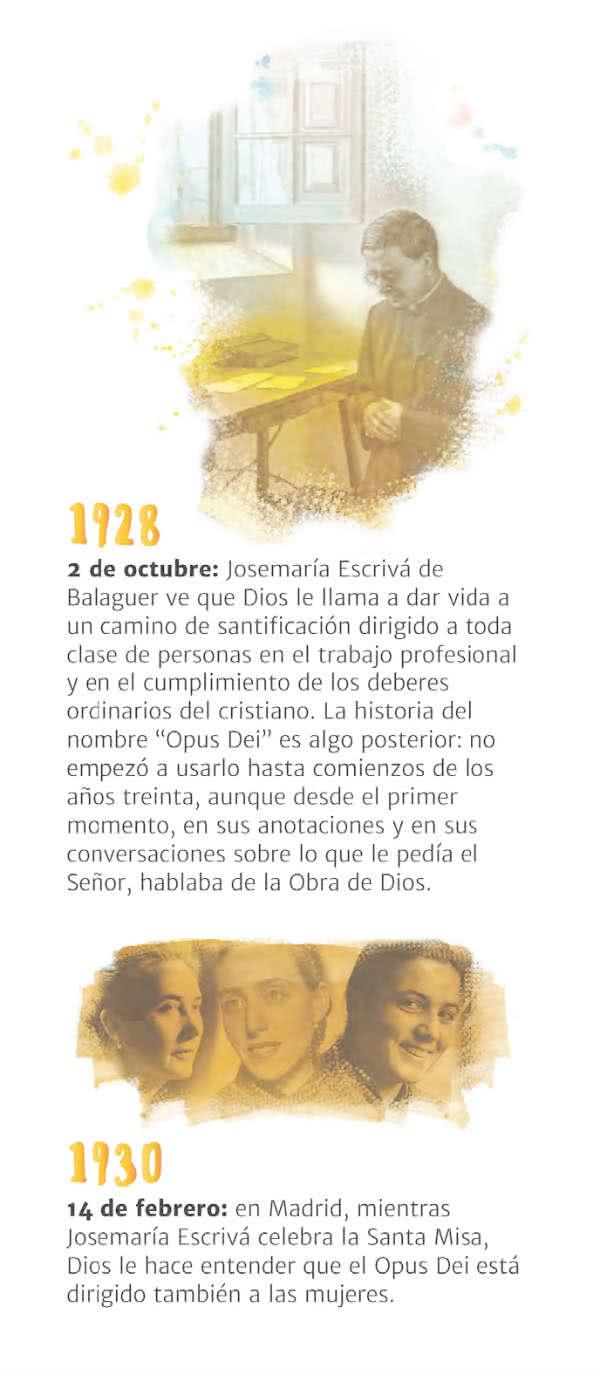 Descarga la cronología de la historia del Opus Dei (1928-2018)