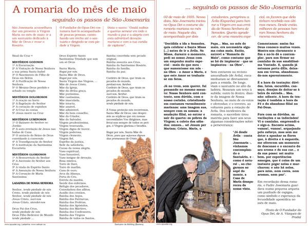 """Clique na imagem para baixar o pdf com a guia: """"Santo Rosário seguindo os passos de São Josemaria"""" (2 páginas)"""