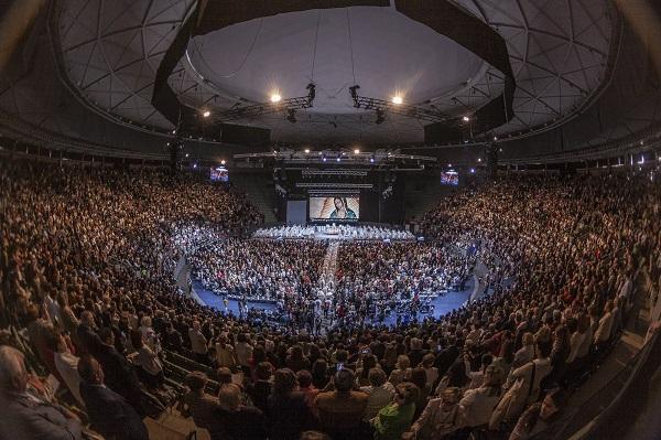 Vista panorámica de Vistalegre Arena el día 18 de mayo