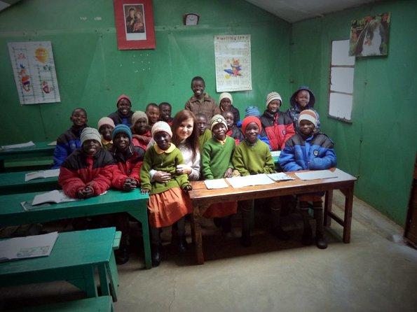 Con niños de una escuela en Nazaret-Limuru
