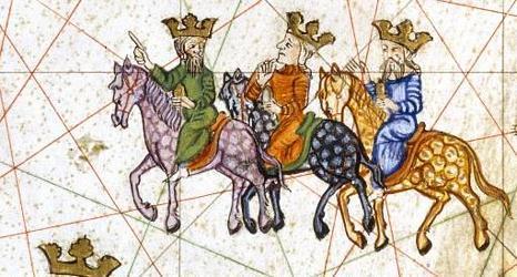 Rois mages, XIVème s. Cartographe Abraham Cresques