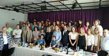 Almoço realizado com os participantes depois da Missa nas Caldas da Rainha