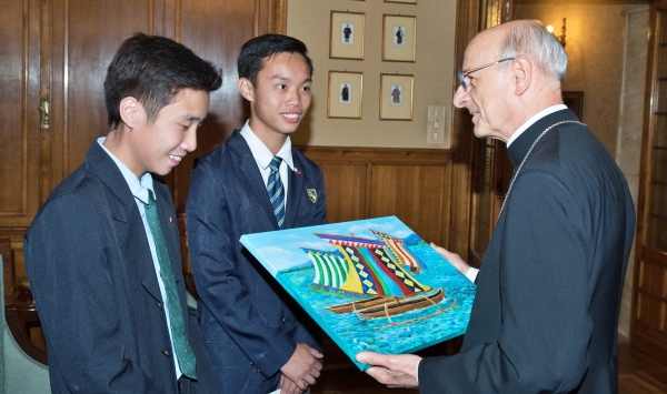In Rome we had a special audience with the Prelate of Opus Dei. We gave him memorabilia from our school. Some brought gifts from their families.