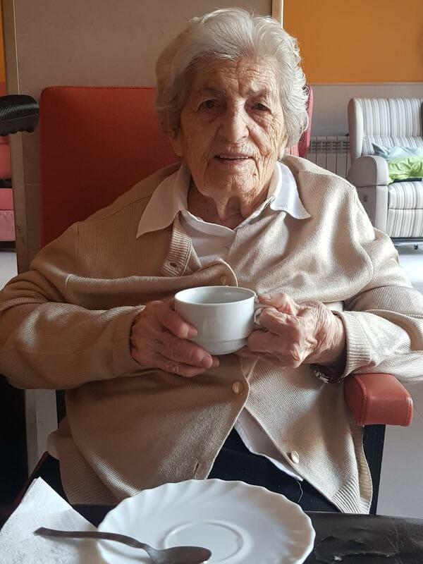 Inés tiene 99 años y vive en una residencia de religiosas en el centro de Madrid